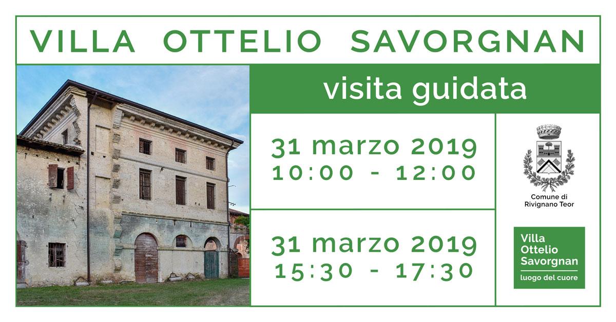 Visite guidate Villa Ottelio Savorgnan 31 marzo 2019