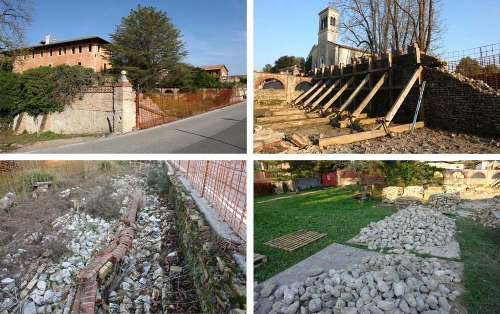 Muro di cinta, interventi di restauro e consolidamento