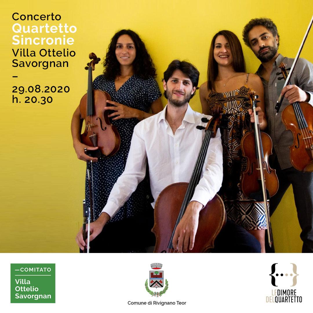 Concerto Quartetto Sincronie Villa Ottelio Savornan
