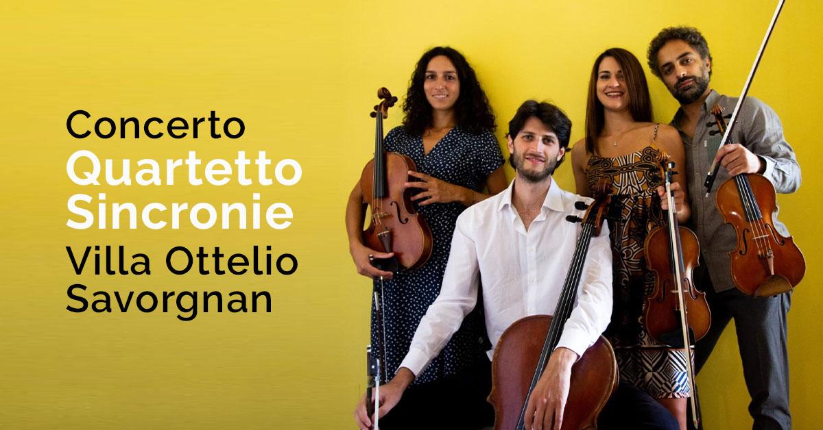 Concerto Quartetto Sincronie Villa Ottelio Savorgnan