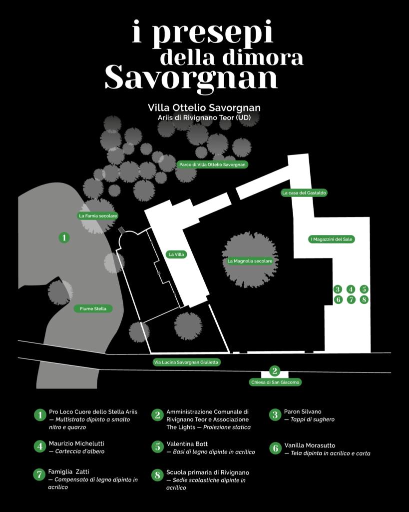 I presepi della dimora Savorgnan - mappa